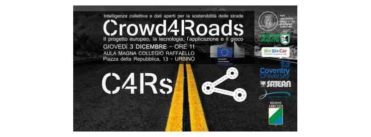 Presentazione del progetto europeo Horizon 2020 Crowd4Roads - C4Rs