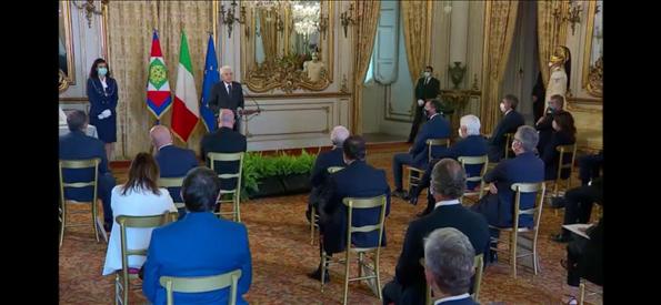 Il Presidente Ceriscioli incontra il Presidente della Repubblica Mattarella per il 50° delle Regioni a statuto ordinario