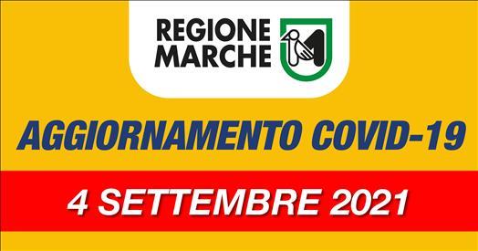 Coronavirus Marche: aggiornamento dati dal Servizio Sanità - situazione al 04/09/2021 ore 12.00