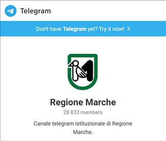 Coronavirus Marche Fase 2: aggiornamenti in tempo reale sul canale Telegram di Regione Marche