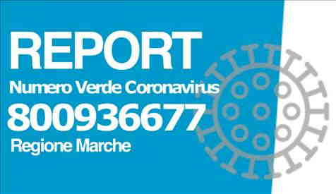 Report Numero Verde Coronavirus 800936677 della Regione Marche: 24 mila le telefonate ricevute