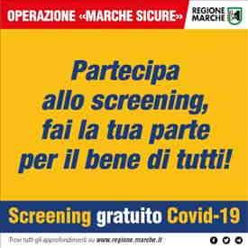"""Operazione """"MARCHE SICURE"""": da venerdì 15 gennaio i test per gli altri comuni dell'area vasta 5 nei distretti di Ascoli Piceno e San Benedetto del Tronto"""