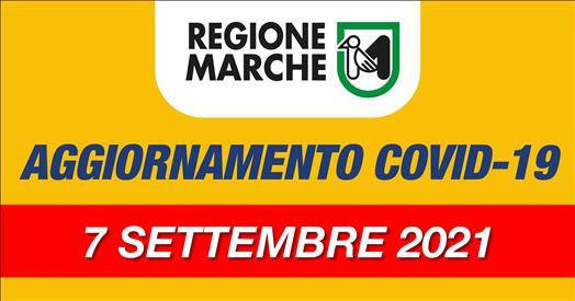 Coronavirus Marche: aggiornamento dati dal Servizio Sanità - situazione al 07/09/2021 ore 12.00