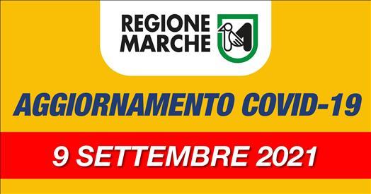 Coronavirus Marche: aggiornamento dati dal Servizio Sanità - situazione al 09/09/2021 ore 12.00