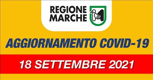Coronavirus Marche: aggiornamento dati dal Servizio Sanità - situazione al 18/09/2021 ore 12.00