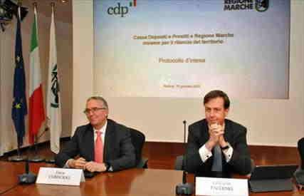 Cassa Depositi e Prestiti e Regione Marche insieme per il rilancio del territorio. Firmato il protocollo di cooperazione