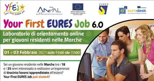 Laboratorio online Your First Eures Job 6.0 per giovani residenti nelle Marche