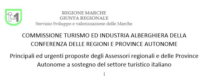 Proposte di sostegno economico per il Turismo presentate dalle Regioni