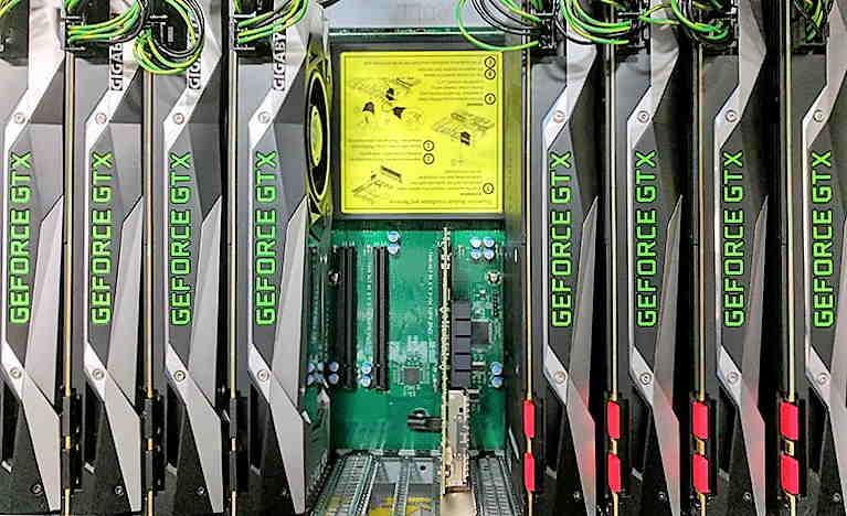 Server SuperMicro per elaborazioni di calcolo parallelo con GPU Nvidia 1080 GTX