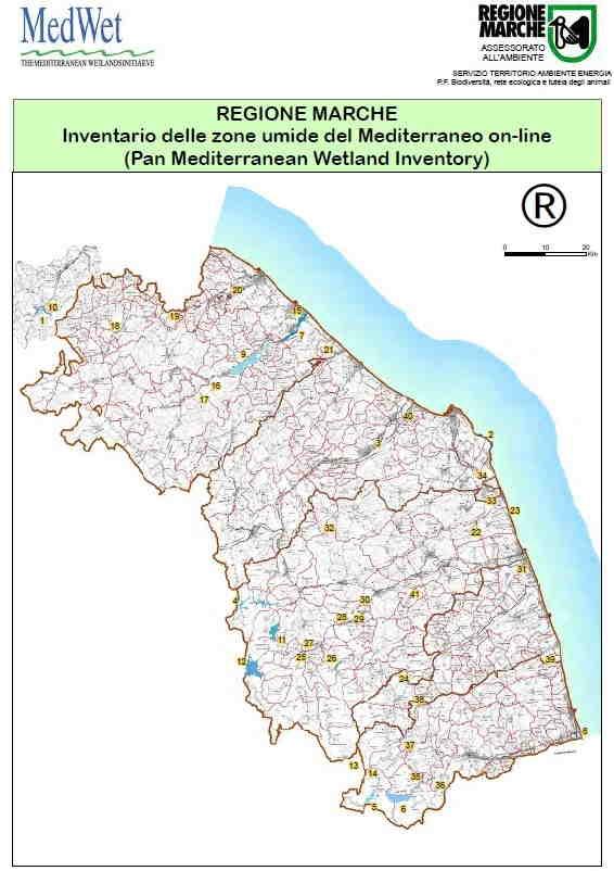 Litorale Marche Cartina.Tutela Della Biodiversita