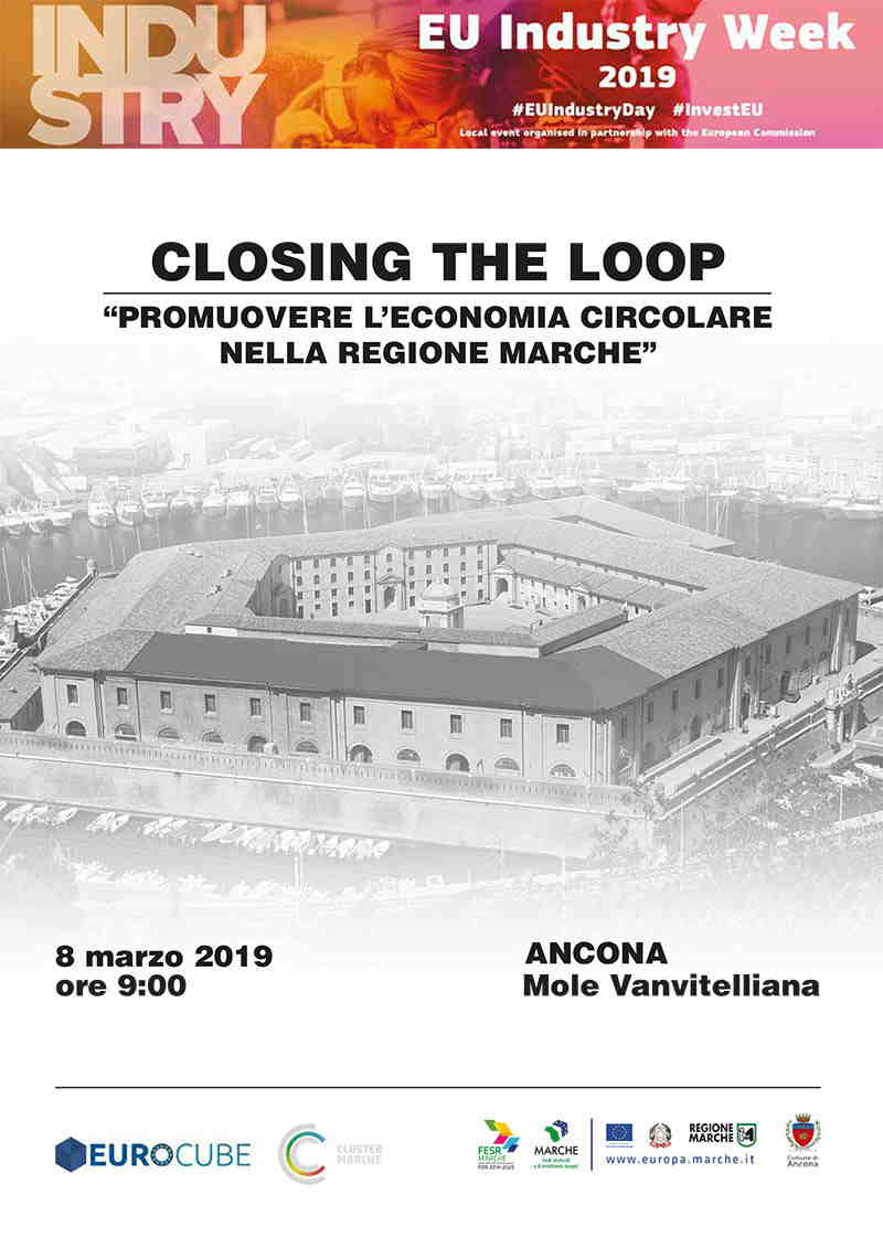 Locandina evento Closing the Loop - economia circolare 2019