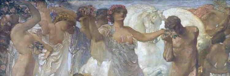 Adolfo De Carolis, I cavalli del sole (particolare), 1907, Ascoli Piceno