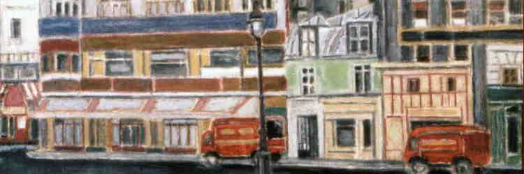 Orfeo Tamburi, I camion rossi, olio su tela, 1956, Ancona