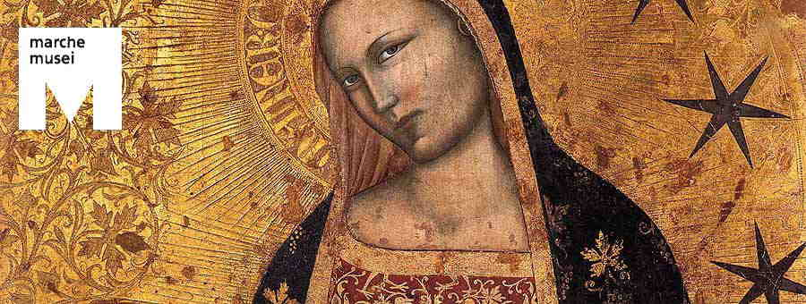Francescuccio di Cecco Ghissi, Madonna dell'Umiltà (part.), Fermo, Polo Museale Palazzo dei Priori