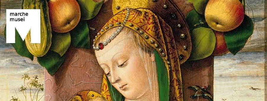 Carlo Crivelli, Madonna con Bambino (part.), Ancona, Pinacoteca Civica 'F.Podesti''