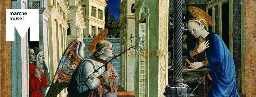Giovanni Angelo di Antonio, Annunciazione (part.), Camerino, Polo Museale di San Domenico
