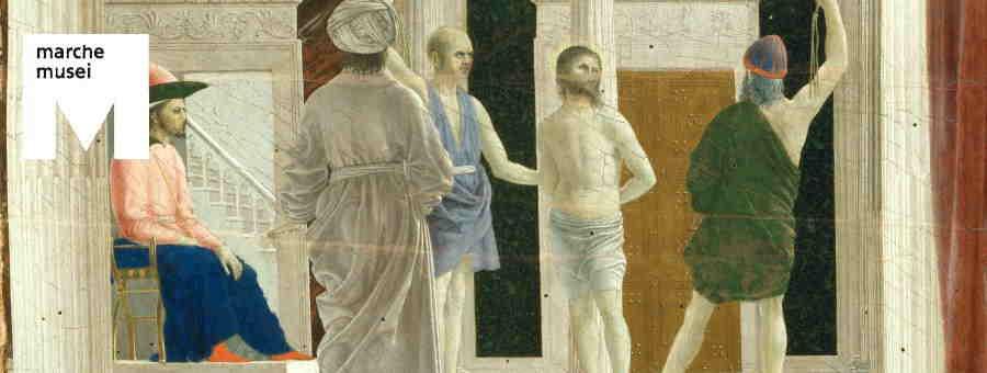 Piero della Francesca, La Flagellazione (part.), Urbino, Galleria Nazionale delle Marche