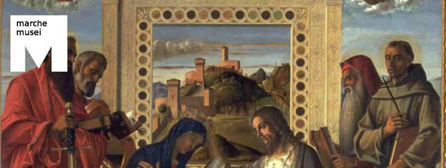 Giovanni Bellini, Incoronazione della Vergine (part.), Pesaro, Musei Civici