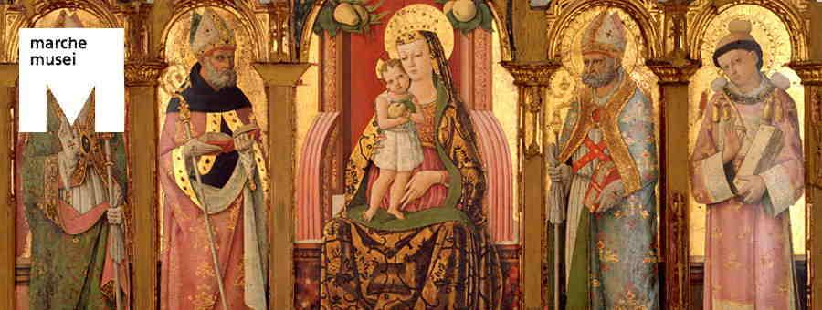 Pietro Alemanno, Madonna con Bambino e Santi (part.), Ascoli Piceno, Pinacoteca Civica'