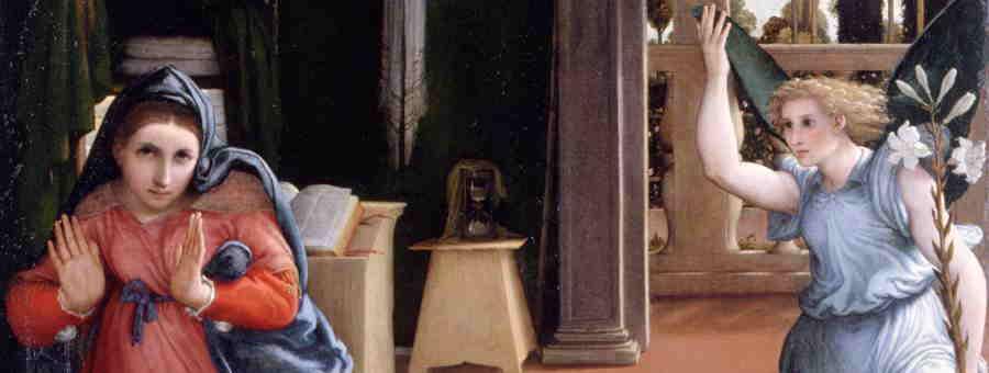 Lorenzo Lotto, Annunciazione (part.), Recanati, Museo Civico Villa Colloredo Mels