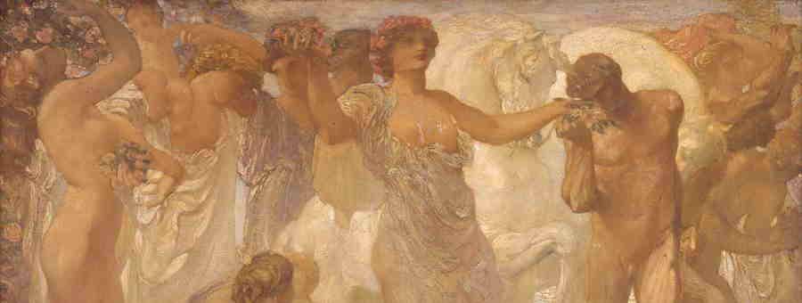 Adolfo De Carolis, I Cavalli del Sole (part.), Ascoli Piceno, Pinacoteca Civica