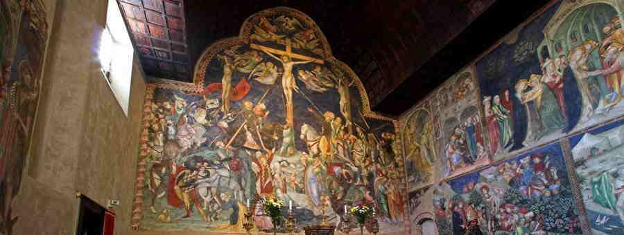 Lorenzo e Jacopo Salimbeni, Crocifissione e Storie di San Giovanni Battista (part.), Urbino, Oratorio di San Giovanni
