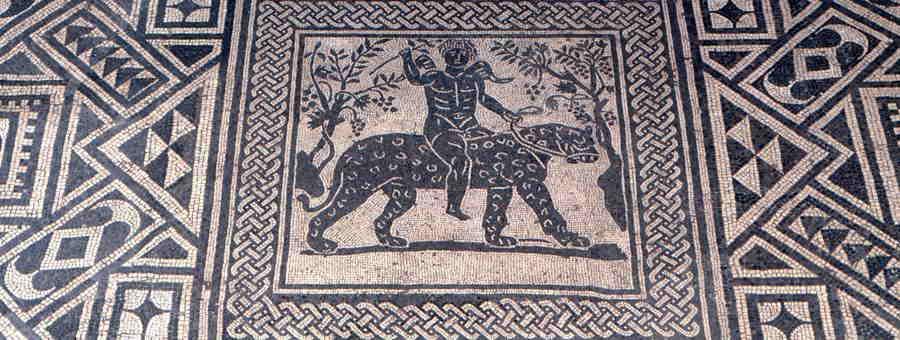 Mosaico della Pantera, Fano, Museo Civico Malatestiano