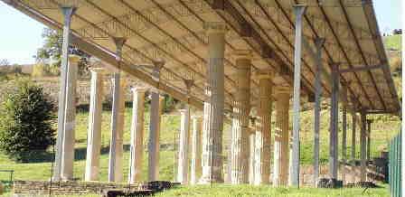 Monte Rinaldo Portico del santuario ellenistico romano