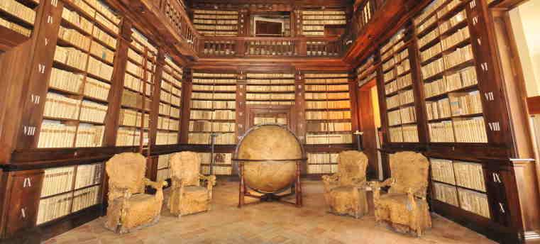 biblioteca di Fermo - sala del mappamondo