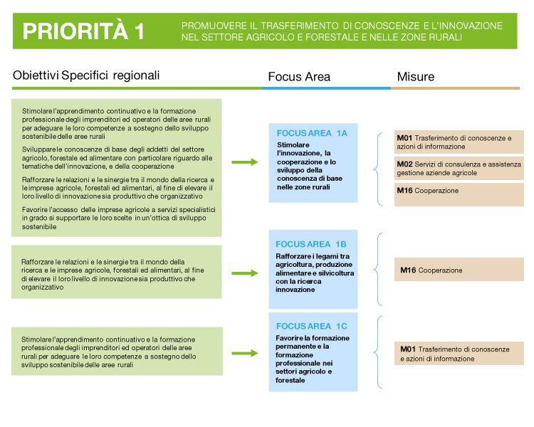 descrizione della priorità 1: obiettivi, focus area e misure