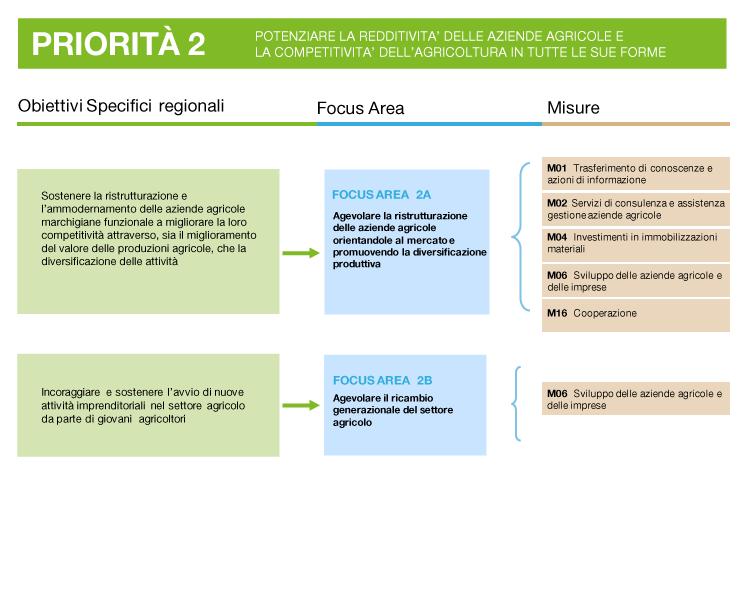 descrizione della priorità 2: obiettivi, focus area e misure