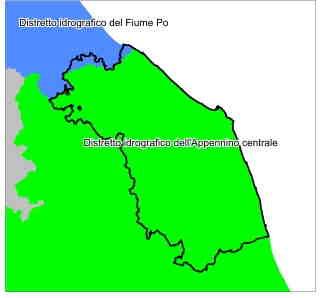 Distretti Idrografici nel territorio della Regione Marche