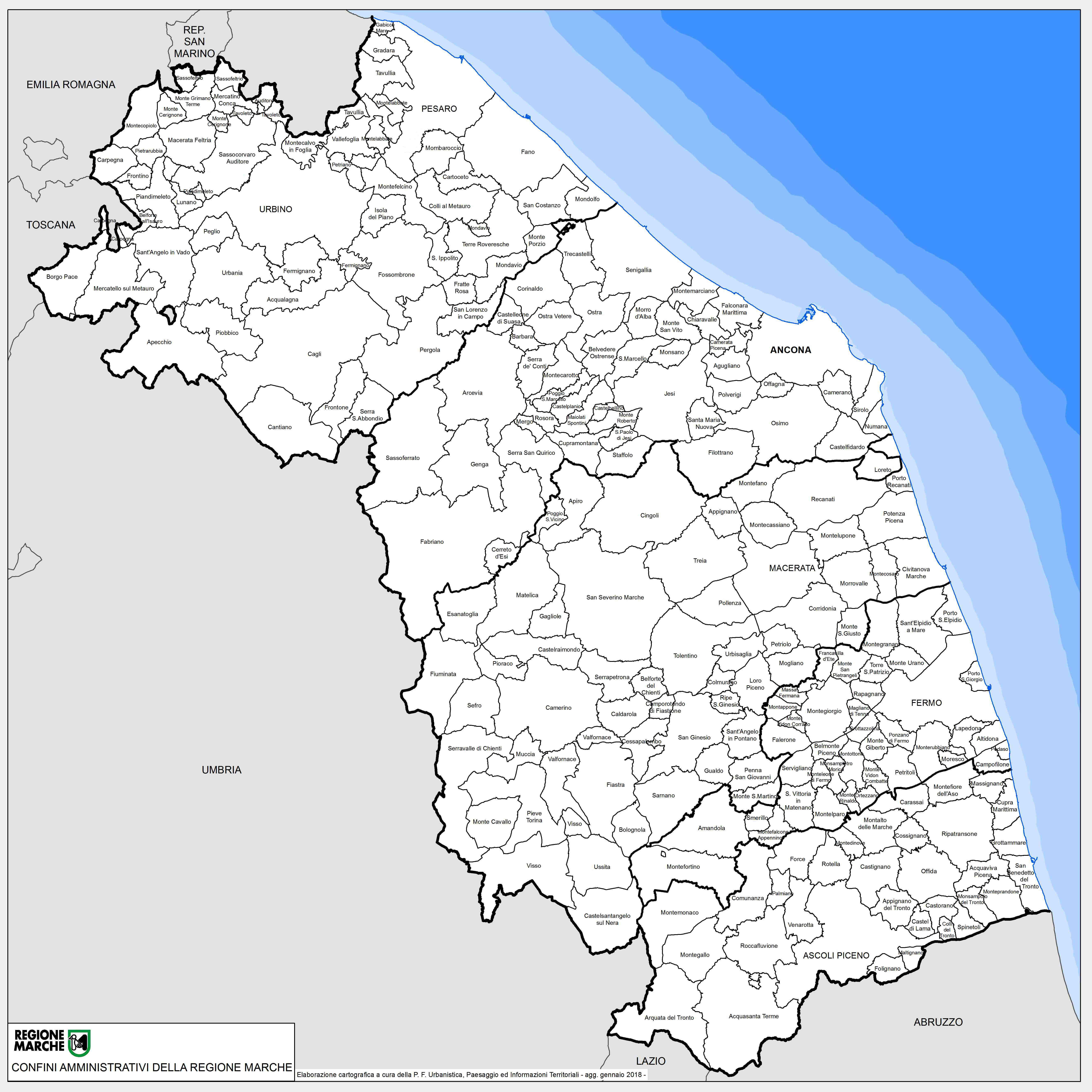 Marche Cartina Stradale.Regione Marche Regione Utile Paesaggio Territorio Urbanistica Genio Civile Cartografia E Informazioni Territoriali Repertorio