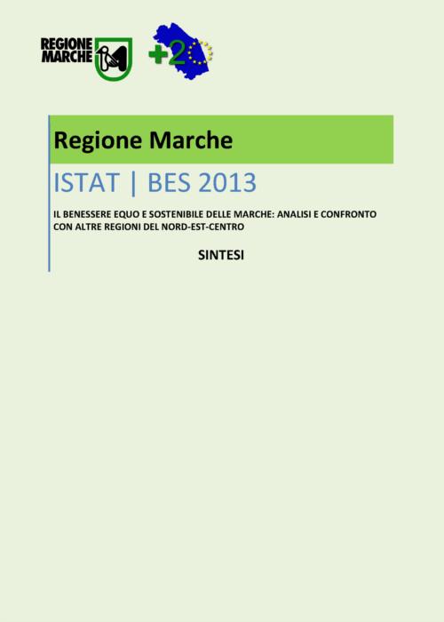 Anteprima della sintesi del rapporto sul benessere equo e sostenibile delle marche 2013