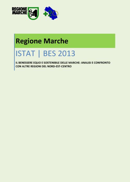 anteprima sul rapporto sul benessere equo e sostenibile delle marche 2013